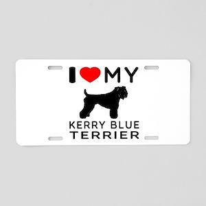 I Love My Kerry Blue Terrier Aluminum License Plat