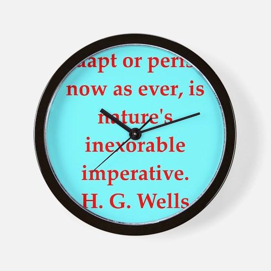 wells1.png Wall Clock