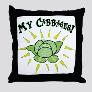 my+cabbages Throw Pillow