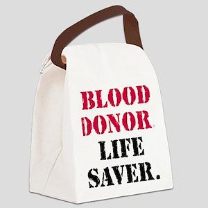blood_donor_life_savercir Canvas Lunch Bag
