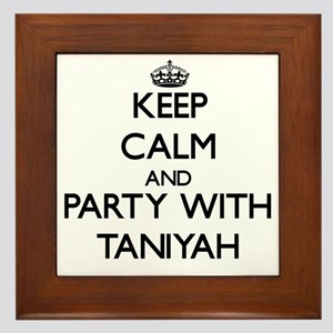 Keep Calm and Party with Taniyah Framed Tile