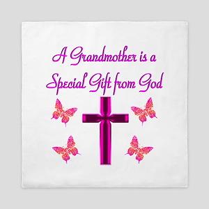 BLESSED GRANDMA Queen Duvet