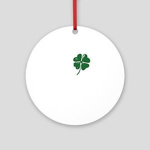 Shamrock heart Round Ornament