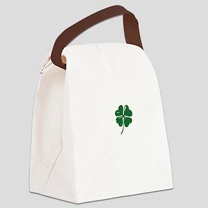 Shamrock heart Canvas Lunch Bag