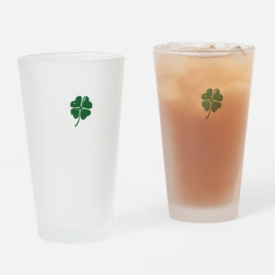 Shamrock heart Drinking Glass