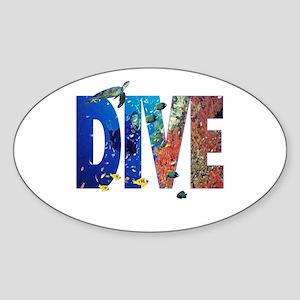 Scuba Dive! Oval Sticker