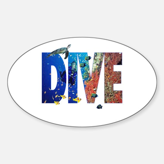 Scuba Dive! Oval Decal