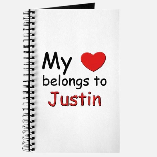 My heart belongs to justin Journal