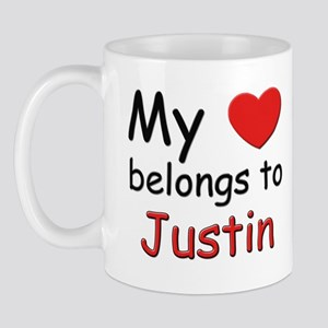 My heart belongs to justin Mug