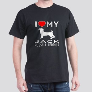 I love My Wire Fox Terrier Dark T-Shirt