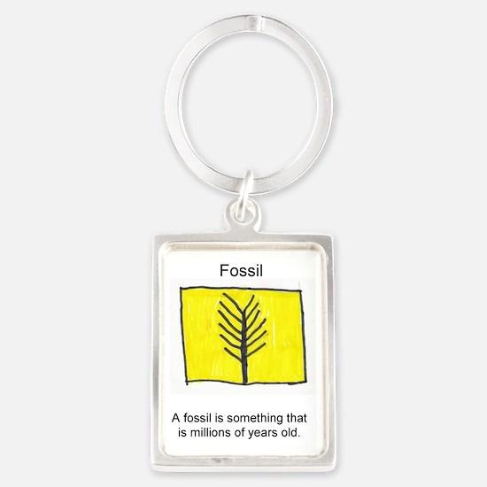 Fossil Portrait Keychain