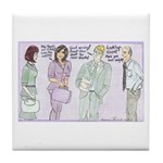 The Brown Nosers Tile Coaster