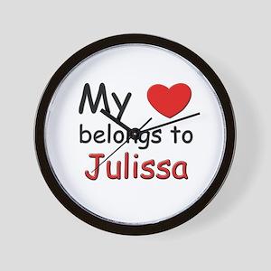 My heart belongs to julissa Wall Clock