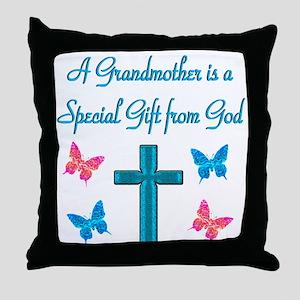 CHERISHED GRANDMA Throw Pillow