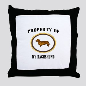 Property of Dachshund Throw Pillow