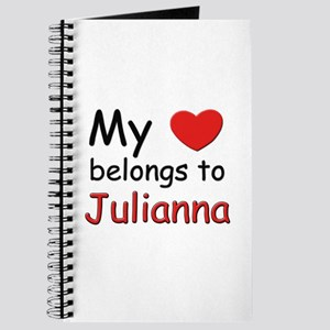 My heart belongs to julianna Journal