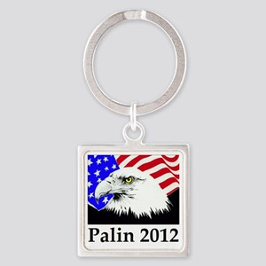aaapalineagle_flag Square Keychain