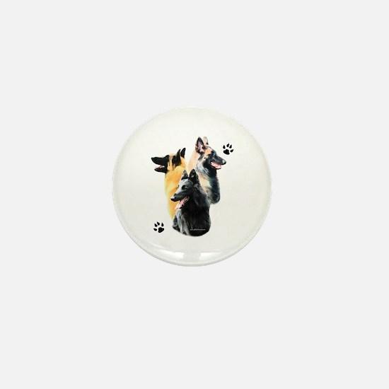 Belgian Trio Mini Button