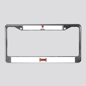 LOVE MY BOXER License Plate Frame