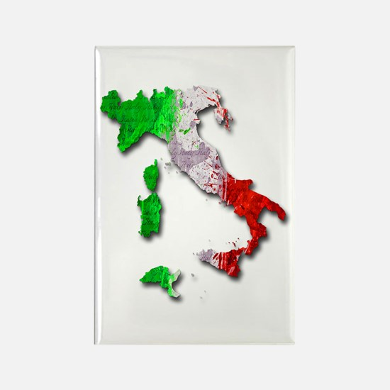 Italy Map Magnets