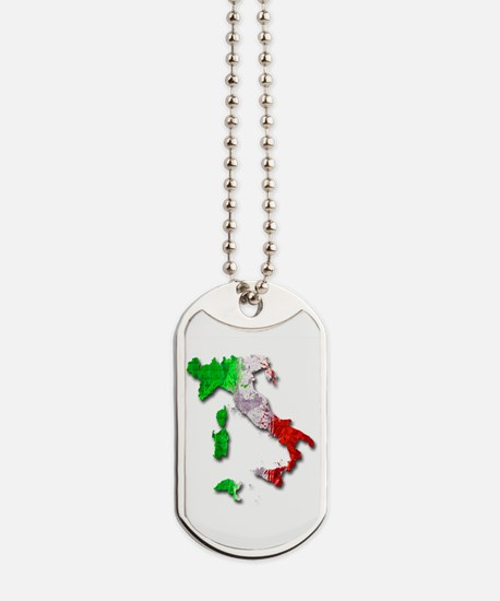 Italy Map Dog Tags