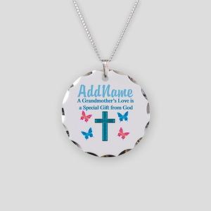 ADORING GRANDMA Necklace Circle Charm