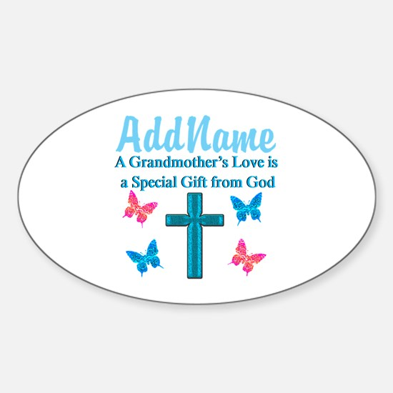 ADORING GRANDMA Sticker (Oval)