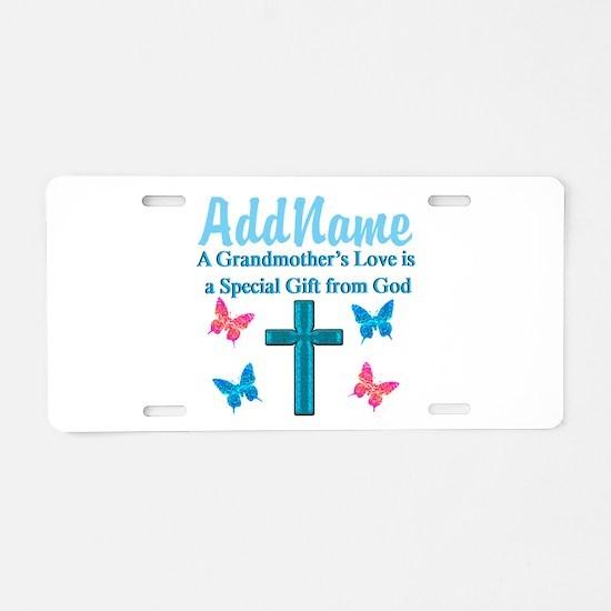 ADORING GRANDMA Aluminum License Plate