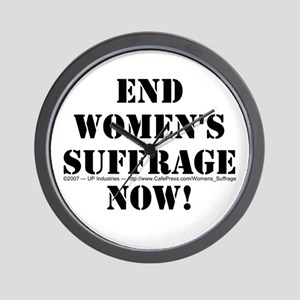 End Women's Suffrage Wall Clock