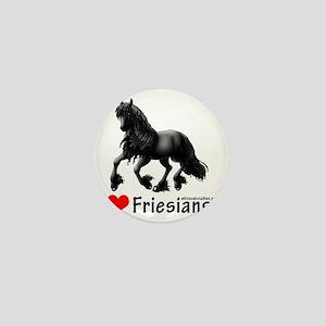 2-i heart friesians Mini Button