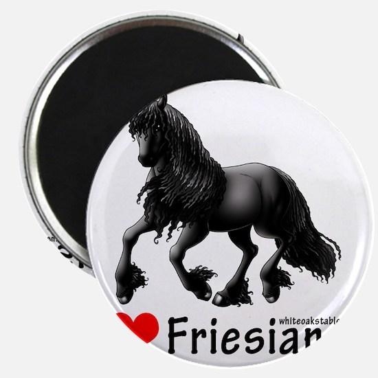 2-i heart friesians Magnet