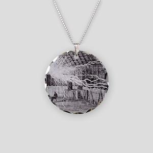 tesle Necklace Circle Charm