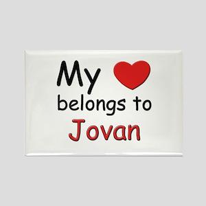 My heart belongs to jovan Rectangle Magnet