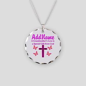 DIVINE GRANDMA Necklace Circle Charm