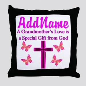 DIVINE GRANDMA Throw Pillow