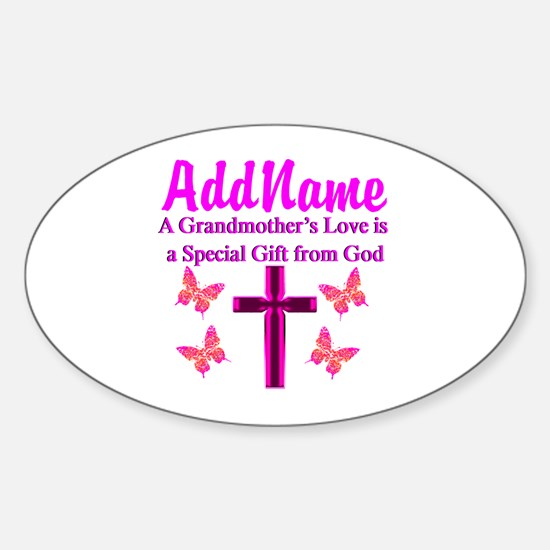 DIVINE GRANDMA Sticker (Oval)