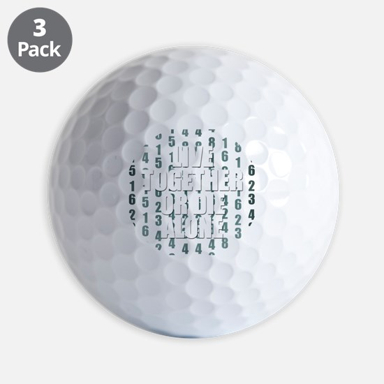 LOST Live Together Golf Ball
