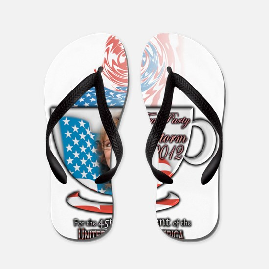Sarah Palin Tea Party 2012 cup Flip Flops