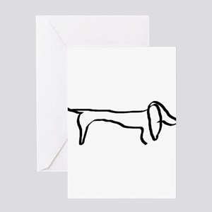 Dachshund freehandedly Greeting Cards