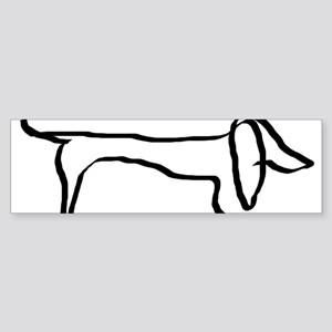 Dachshund freehandedly Bumper Sticker