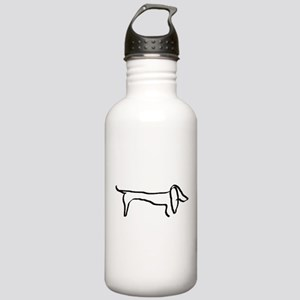 Dachshund freehandedly Water Bottle