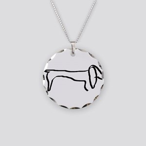 Dachshund freehandedly Necklace