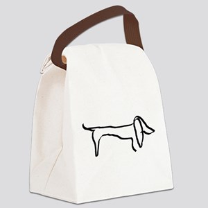 Dachshund freehandedly Canvas Lunch Bag
