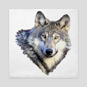 3-GRAY WOLF Queen Duvet