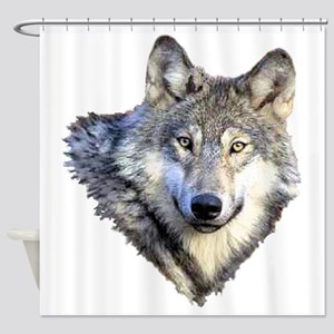 3-GRAY WOLF Shower Curtain
