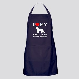 I Love My Irish Water Spaniel Apron (dark)
