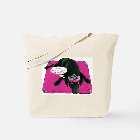 Black Lab Princess Tote Bag