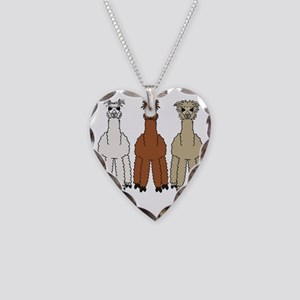 alpacadark Necklace Heart Charm