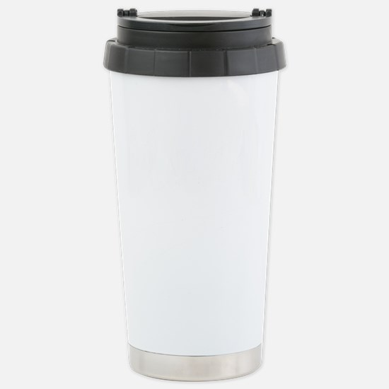 Manly-white Stainless Steel Travel Mug