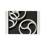 BDSM triskelion Rectangle Magnet (10 pack)